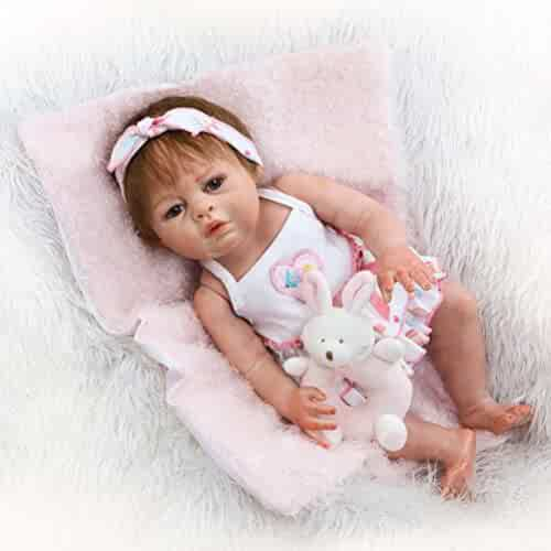 2c9a4145c64c Anatomically Correct Reborn Babies Realistic Newborn Girl Dolls Open Mouth  with Magnet Pacifier