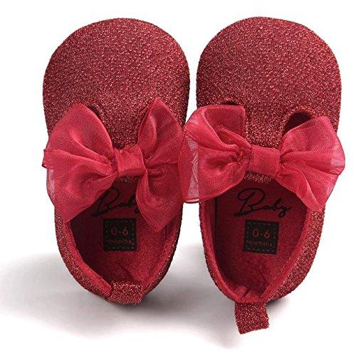 Casual Zapato Antideslizante Elegante Bebé Arco De Zapatos Primeros Pu Zapatilla Princesa Niña Pasos Del Rojo Niñas Fondo Para Blando xRzR0v7wq