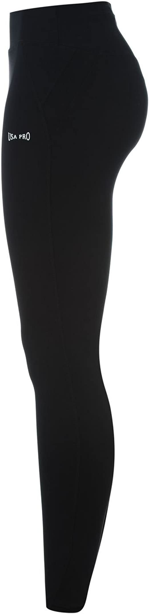 USA Pro Womens High Waisted Tights Performance Pants Trousers Bottoms