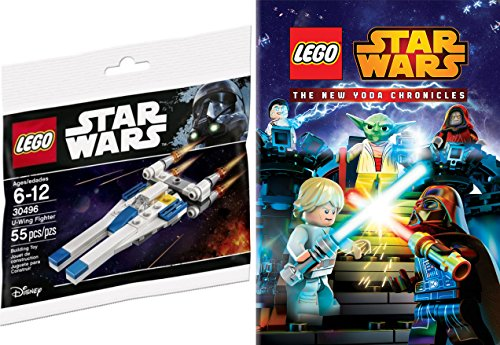Lego Yoda DVD & Buildable Starship - The Lego Star Wars Movie New Yoda Chronicles 4 episodes & U-Wing Fighter Toy Bundle Intergalactic Adventures!