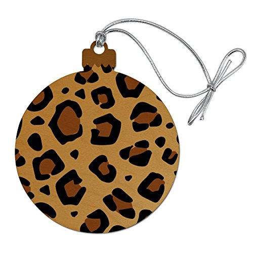 GRAPHICS & MORE Leopard Print Animal Spots Wood Christmas Tree Holiday Ornament]()