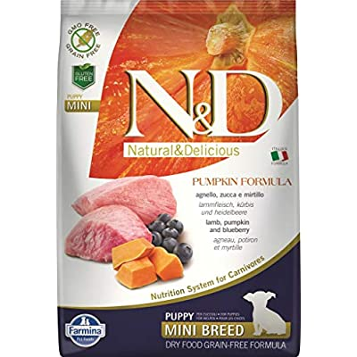 Farmina N&D Dog Dry Puppy Grain Free Pumpkin Mini Lamb & Blueberry 15.4 Pounds