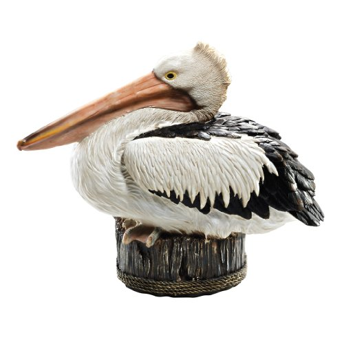 Design Toscano QM22398 Dock of The Bay Pelican Coastal Décor Outdoor Garden Statue, 10 Inch, cream
