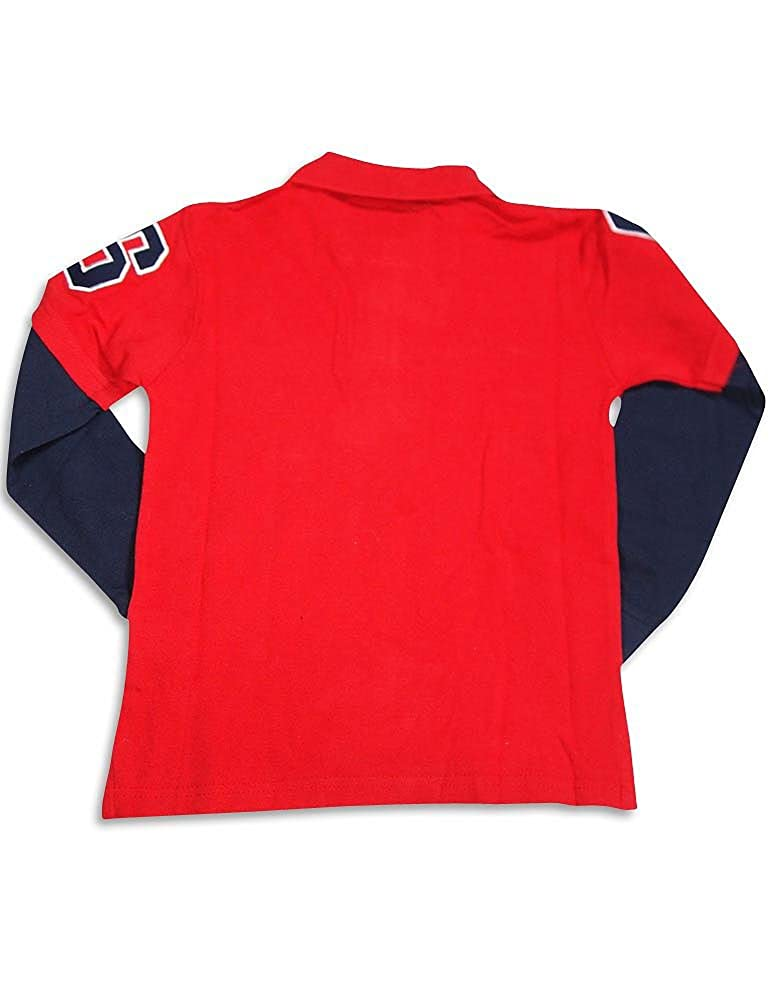 GS-115 Little Boys Long Sleeve Polo Top