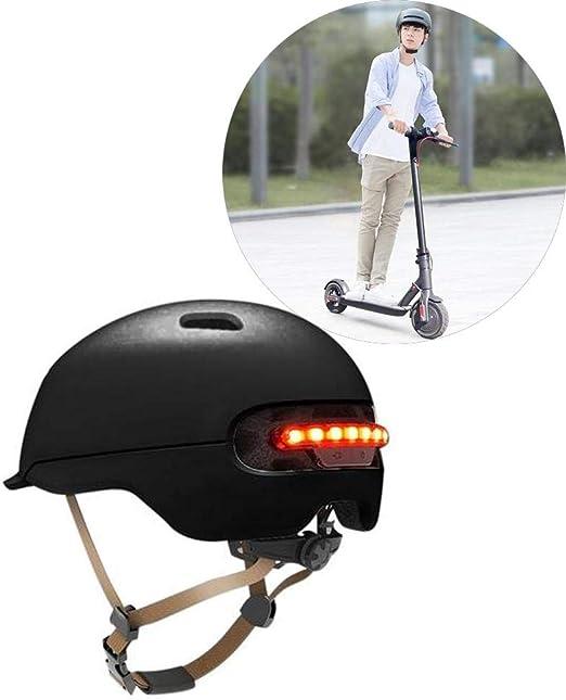 Dedeka Casco Bicicleta con luz LED para XIAOMI M365, Casco clásico ...