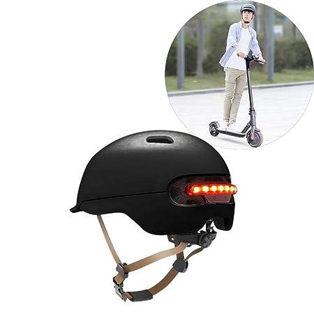 Dedeka Casco Bicicleta con luz LED para XIAOMI M365, Casco clásico para Bicicleta/Skate/Multideporte con 12 ventilaciones, Patín eléctrico Scooter ...