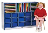 Rainbow Accents 0415JCWW112 Sectional Cubbie-Tray Mobile Unit without Trays, Navy
