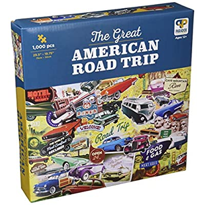 The Great American Road Trip 1,000 Piece Jigsaw Puzzle by Paradox Puzzle Company: Toys & Games