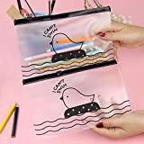 forone Fashion Stationery Translucent Cosmetic Bag Pen Storage Cute Chicken Clear Pencil Case