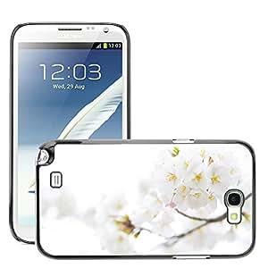 Super Stellar Slim PC Hard Case Cover Skin Armor Shell Protection // M00048359 cherry aero plum white flowers // Samsung Galaxy Note 2 N7100