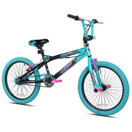 "Kent.. 20"" Girls Trouble Aqua/black Bicycle"