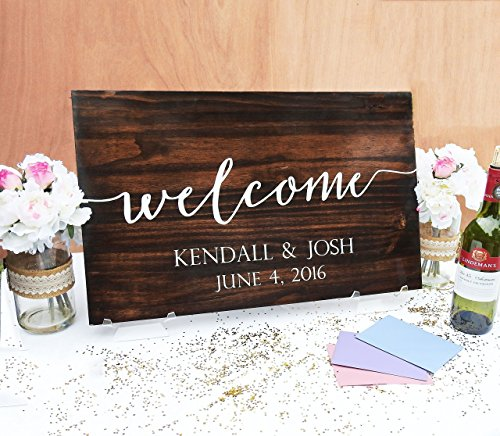 Welcome to Our Wedding Wood Sign Wedding Sign Wood sign Wedding Wood Sign Wooden Sign Wedding Handwritten Typography Wedding Decor sign#172