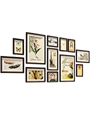 Vintage Brown Large Multi Picture Photo Frames Collage Set for Wall Gallery Kit for Wall Hanging DIY Home Background Wall Decor Display