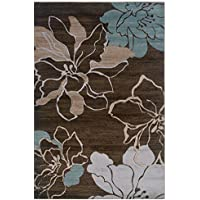 Linon RUG-MN0623 Milan Collection Brown, 1.10 x 2.10