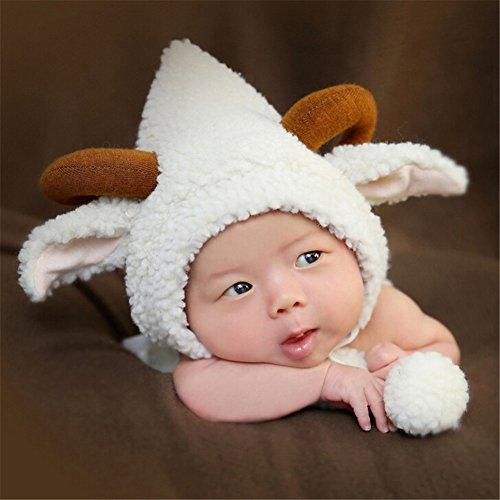 CuteOn Unisex Newborn Boy Girl Baby Outfits Photography Props White (Make Goat Boy Costume)