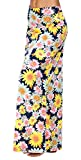 Urban CoCo Women's Stylish Spandex Comfy Fold-Over Flare Long Maxi Skirt (M, 3): more info