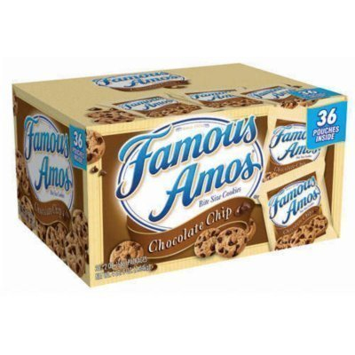Famous Amos Chocolate Chip Cookies - 36/2 oz. by Famous Amos - Chocolate Amos Famous Cookies