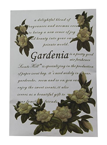 Scents Hill Wardrobe Scented Sachets For Closet,Lot Of 4(Gardenia)