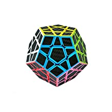 I-xun® I-xun Speed Megaminx Magic Cube 3x3 Carbon Fiber Sticker Dodecahedron Cube Twisty Puzzle For Intelligence Development