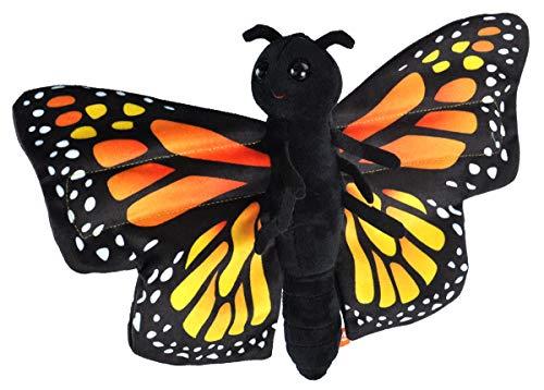 Wild Republic Huggers Butterfly Monarch Plush Toy, Slap Bracelet, Stuffed Animal, Kids Toys, 8