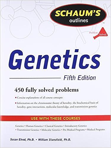 Schaum S Outline Of Genetics Fifth Edition Schaums Outline