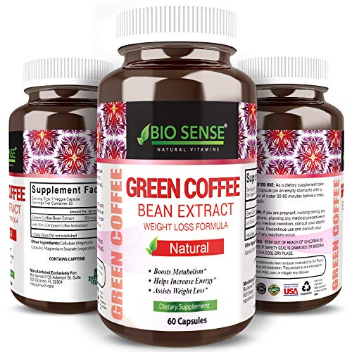 Extra Strength Green Coffee Bean Extract Pills - 800 mg Pure Premium Beans - Best Natural Max Weight Loss Supplement Super Cleanse Benefits - Raw Fat Burner Antioxidant Extracts (Super Green Coffee)