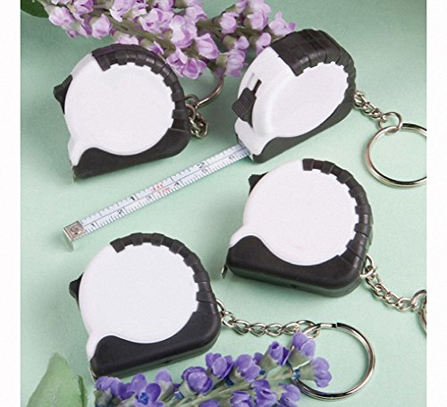 Perfectly Plain Collection Key Chain/Measuring Tape Favors - Set of (Measuring Tape Keychain Favor)