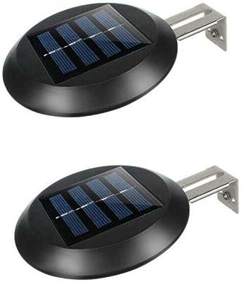 Sunboia Solar Dachrinnen Lichter Solar Gosse Leuchten,Neueste 9 LED Outdoor Zaun Licht Wasserdicht Wand Garten Terrasse Auffahrt Deck Treppen-wei/ßes,Packung mit 2