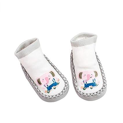 Calcetines antideslizantes para bebé, diseño de dibujos animados, antideslizantes, calcetines para el suelo