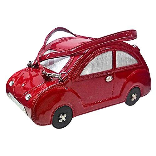 Kdhjjoly Practical Lady Girls Fashion Designer Novelty Cool Personalized Handbag Beetle Car Shoulder Bag Red Chic