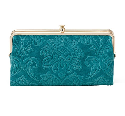 hobo-womens-genuine-leather-vintage-lauren-wallet-damask-emboss-teal-green