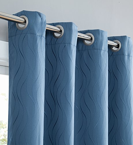 HLC.ME Camden 100% Blackout Thermal Window Curtain Grommet P