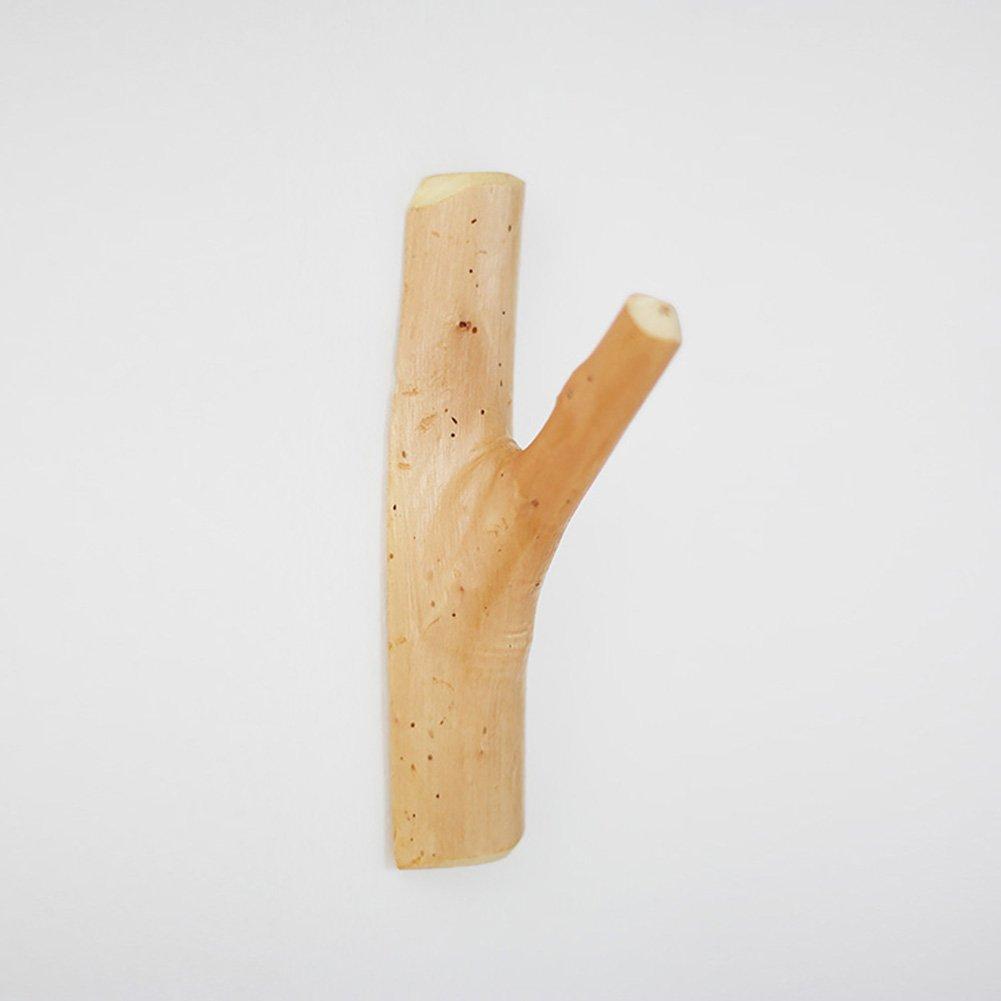 Legno di pioppo gancio appendiabiti da parete creativo semplicità pastorale legno attaccapanni gruccia murale borse borse ganci da parete FENGRUIUI