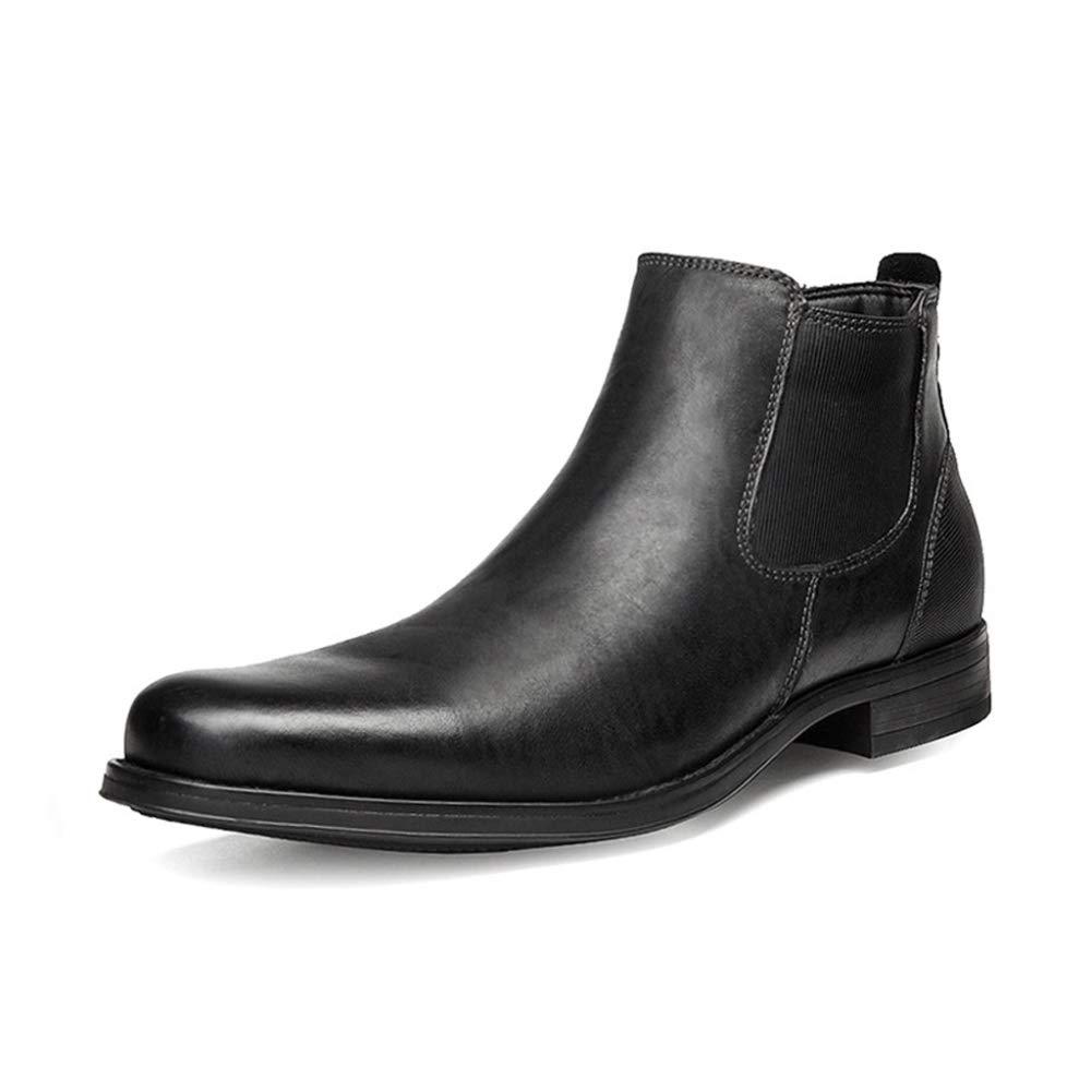 DAN Herren Chelsea Stiefel Elastische Reißverschluss Schuhe Mund Martin Stiefel Schuhe Winterwerkzeug Herren Stiefel ErhöHt Chelsea Stiefel