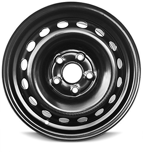 Road Ready Car Wheel For 2005-2010 Honda Odyssey 16 Inch 5 Lug Black Steel Rim Fits R16 Tire - Exact OEM Replacement - Full-Size Spare