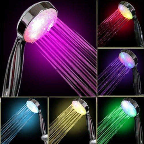 Led Shower Head Lights Water Home Bath