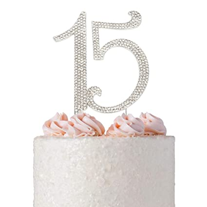 Amazon Com 15 Quinceanera Birthday Cake Topper Premium Bling