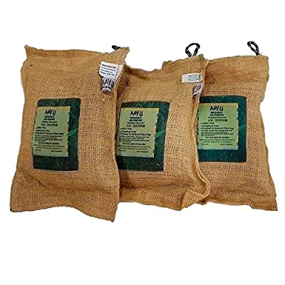 AAYU Activated Charcoal Odor Eliminator | Natural Bamboo Air Purifier & Freshner | Breathable Burlap Bag | Ecofriendly Deodorizer Bag | Fragrance Free | Chemical Free | Last for 2 years | 500 Grams