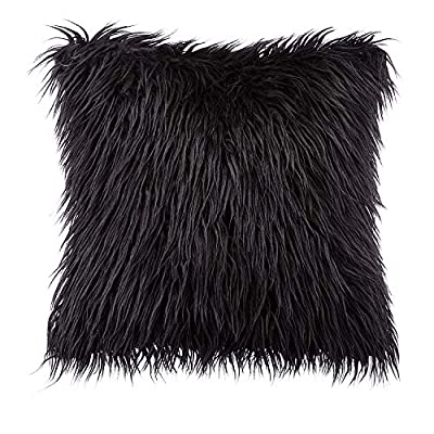 "Phantoscope Decorative New Luxury Series Merino Style Fur Throw Pillow Case Cushion Cover 18"" x 18"" 45cm x 45cm"