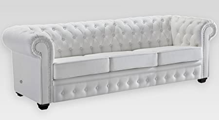 Chesterfield Sofa Mit Schlaffunktion Und 2x Sessel Amazon De Kuche
