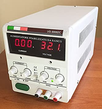 Bench DC Linear Power Supply Variable Output 0-30V 0-5A Fully Adjustable  Stabilized Italy Design