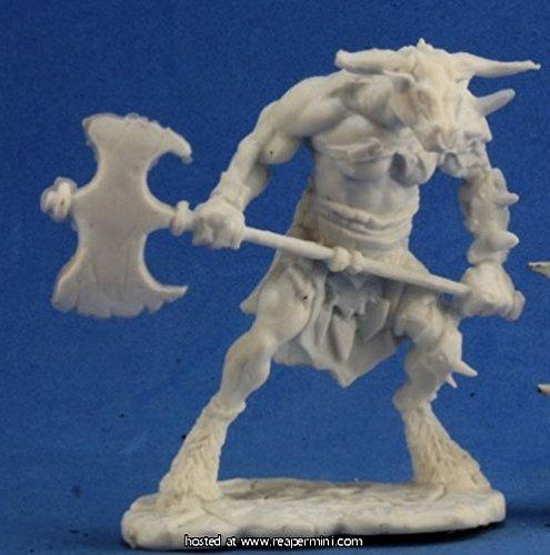Reaper RPR77251 Bones Bloodhoof, Minotaur Barbarian Miniature ()