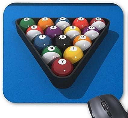 Bolas de billar personalizada en azul sentidas: cojín de ratón ...