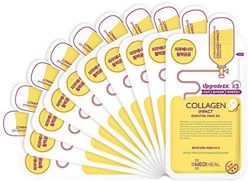 MEDIHEAL Collagen Impact Essential Mask EX. 25ml Pack of 10