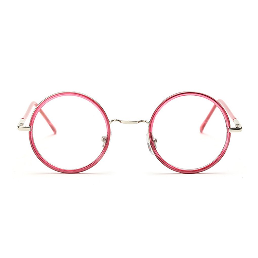 Round Glasses Frames Women Men Metal Eyewear Can Equipped Lens Jiasijieke