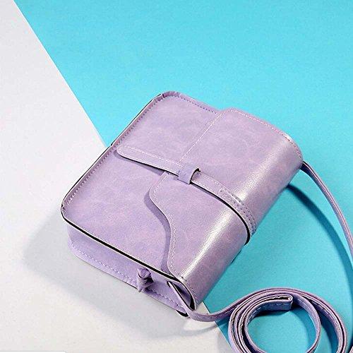 Main à diagonal à Cuir à Kingwo Sac Bandoulière Vintage en Bandoulière Violet Multifonctionnel Sac sac qHZxxB1wp