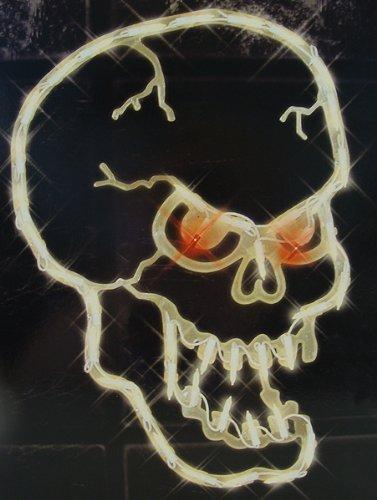 Impact 16'' Lighted Halloween Spooky Skull Window Silhouette Decoration