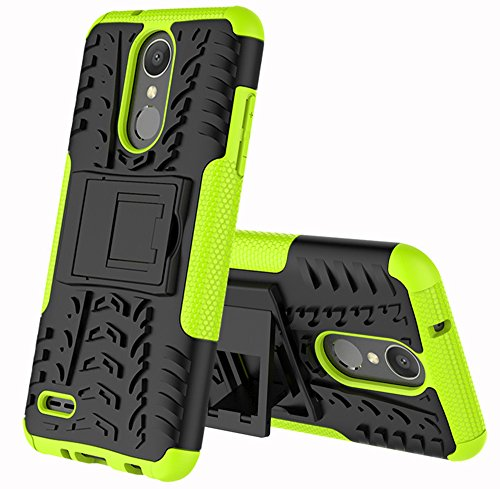 LG Zone 4 Case,LG Aristo 2/3, LG Phoenix 4, LG Tribute Empire/Dynasty SP200,LG Fortune 2,LG Risio 3,LG K8 (2018) Case,Yiakeng Wallet Hard Protective Flip Phone Cases with A Kickstand (Green) (Phone Case For Lg 3)
