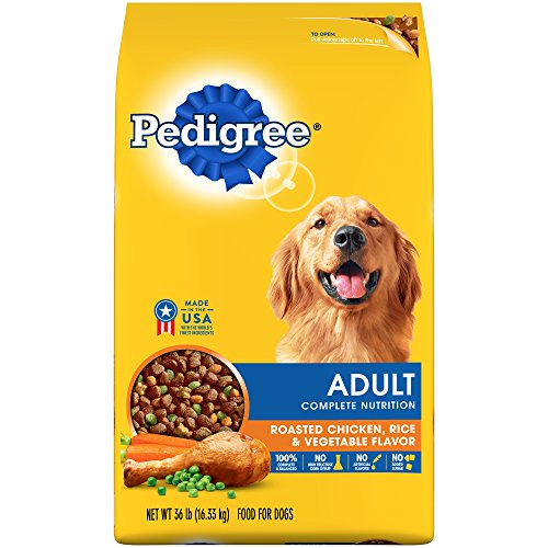 Pedigree Complete Nutrition Adult Dry Dog Food Roasted Chicken, Rice & Vegetable Flavor, 36 Lb. Bag