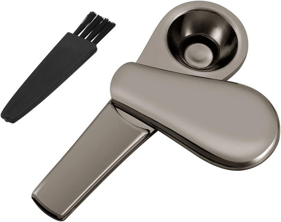 Cizen Pipa de Tabaco de Metal, Pipa Fumar de Portatil Aleación, Embalaje Caja de Regalo (Negro)